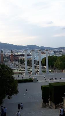 Blick von Montjuic Richtung Placa Espana