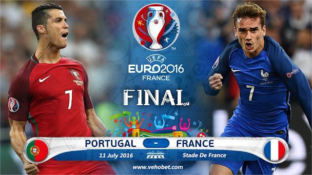 Hasil prediksi Portugal vs Prancis : trofi juara Piala Euro 2016