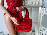 bolsa de crochê para Barbie