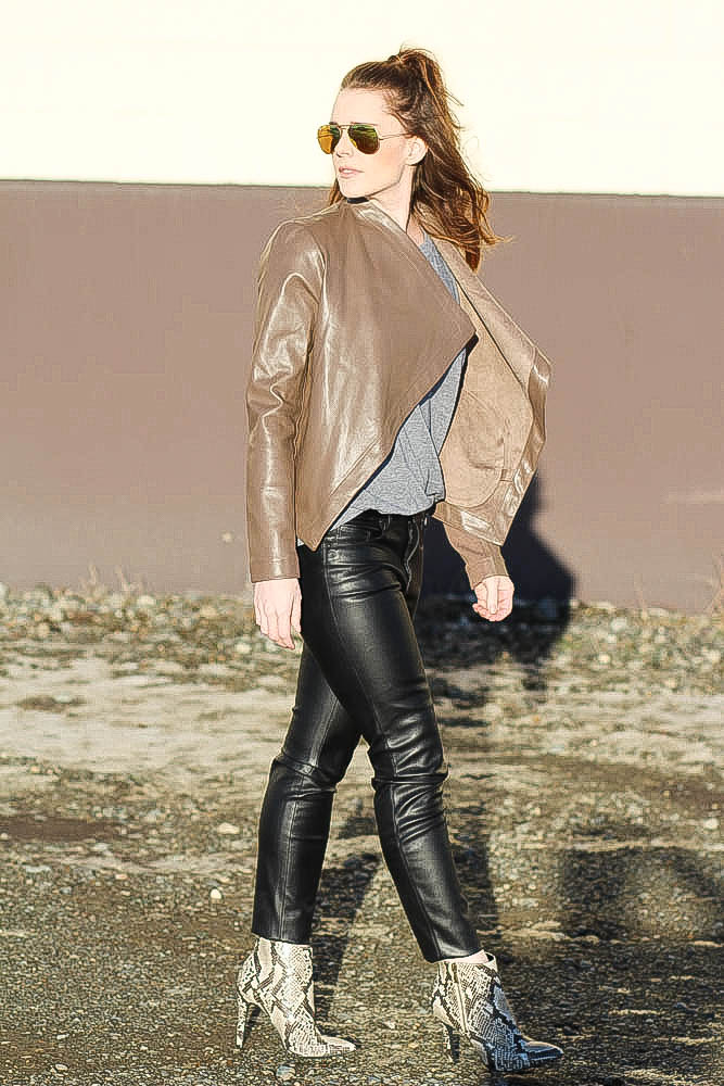 Cute Outfit Inspirations- Leather on Leather