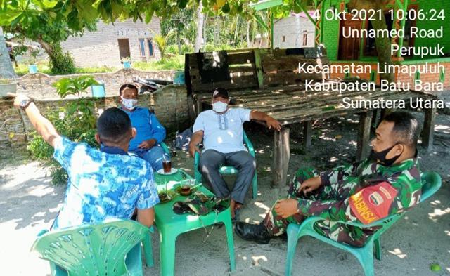 Dengan Melalui Komsos Personel Jajaran Kodim 0208/Asahan Sampaikan Himbauan Cegah Covid-19 Diwilayah Binaan