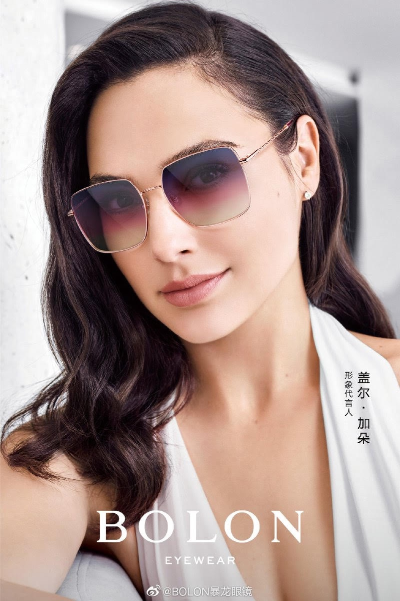 Actress Gal Gadot wears gradient lenses in Bolon Eyewear 2020 campaign