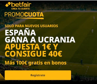 betfair supercuota Ucrania vs España 13 octubre 2020