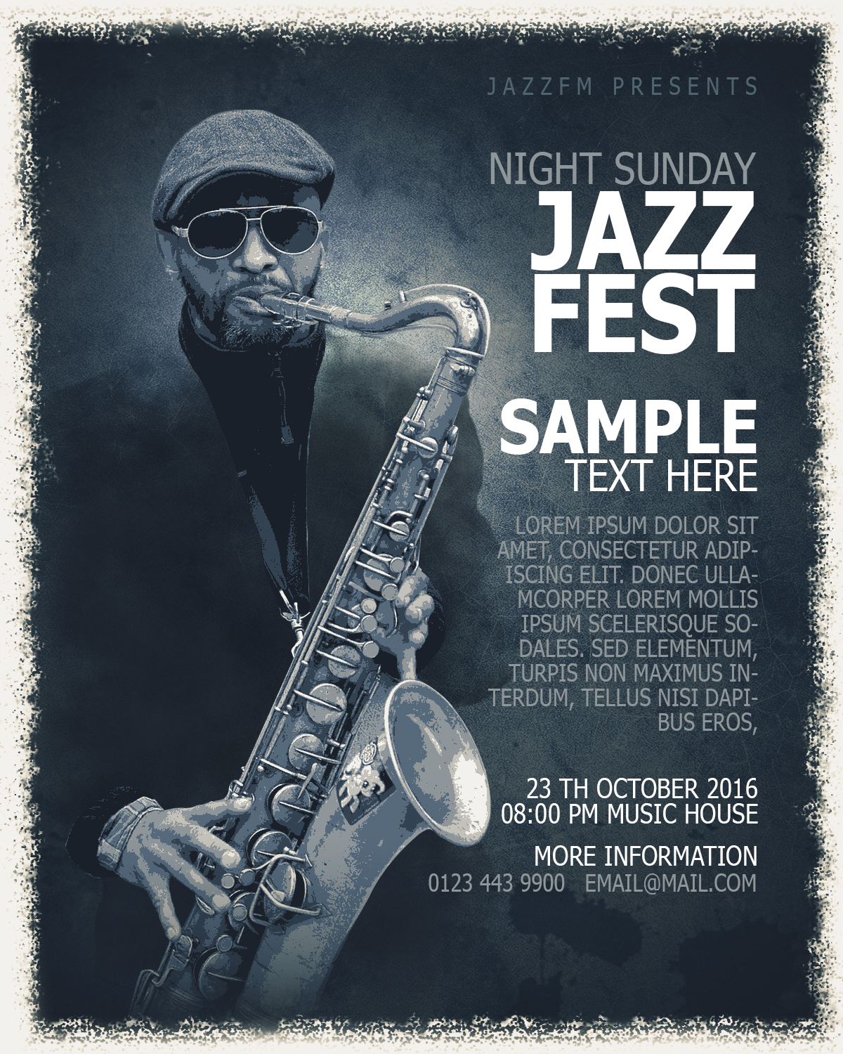 Jazz Fest Poster Design In Photoshop