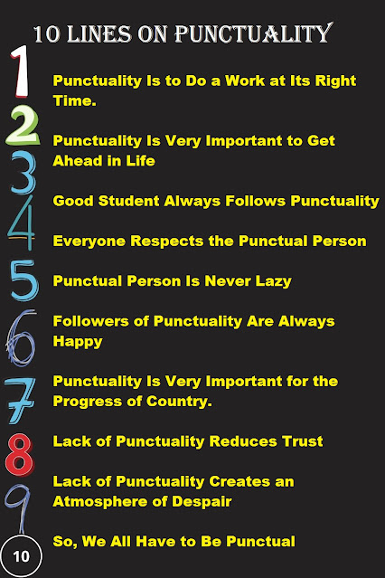 Few Lines on Punctuality in English for Kids