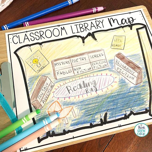 Classroom library map activity