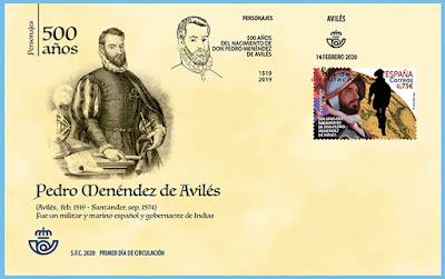 Sobre, Pedro Menéndez de Avilés