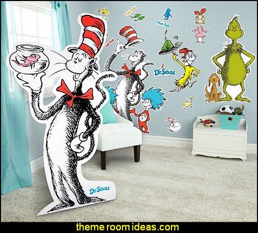 Dr. Seuss Room Decor - Giant Wall Decals and Standup Kit
