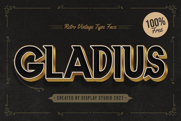 Gladius Font - Free Bold Athletic Display Typeface