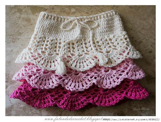 wzory spodniczek dla dziewczynek