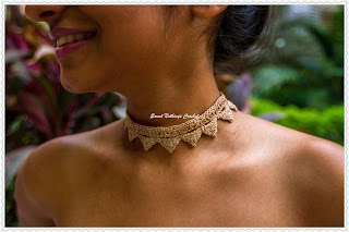 free crochet choker necklace pattern