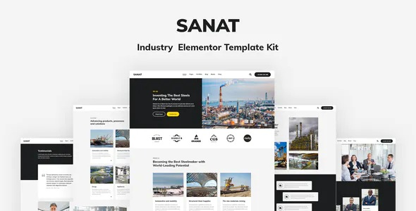 Best Industry Elementor Template Kit