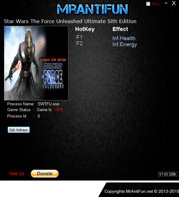 Star Wars The Force Unleashed Ultimate Sith +2 Trainer Hile İndir