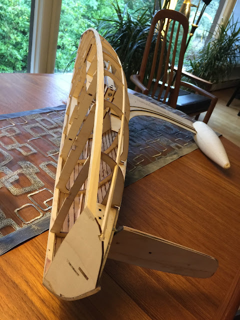 Sun Wind II Wooden RC Sailboat Test Hull