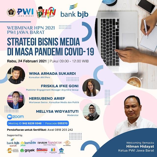 PWI Jabar Gelar Webinar Strategi Bisnis Media di Masa Pandemi Covid-19