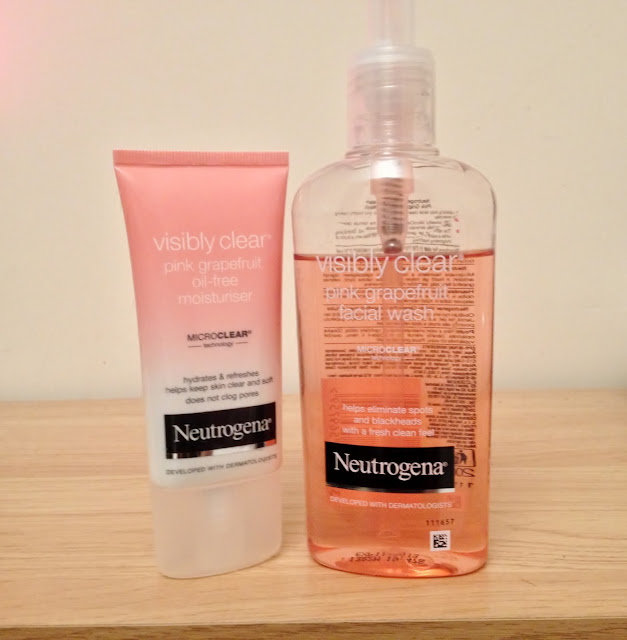 Neutrogena visibly clear pink grapefruit face wash and moisturiser review