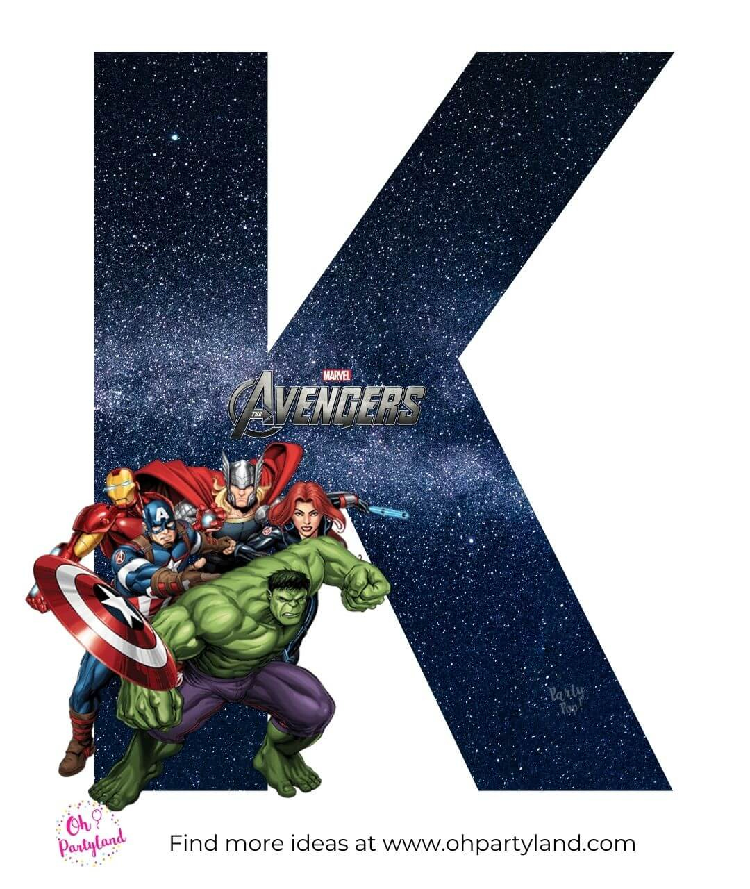 free printable avengers letters