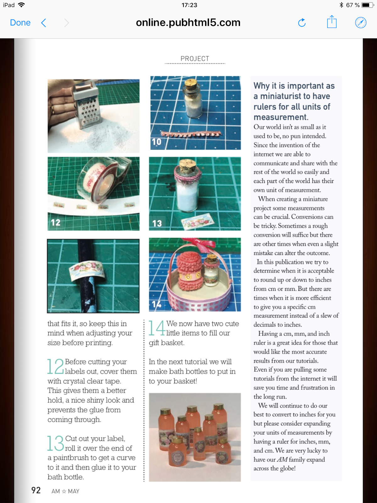 Dany's DIY Minis: TUTORIAL published in A M  Magazine : how to make