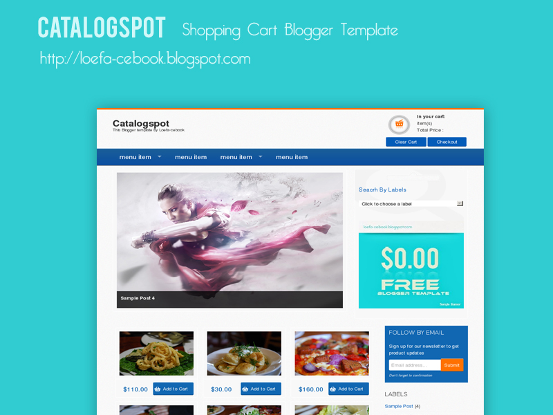 Catalogspot shopping cart blogger template thuthuatlaptop for Shopping cart template for blogger