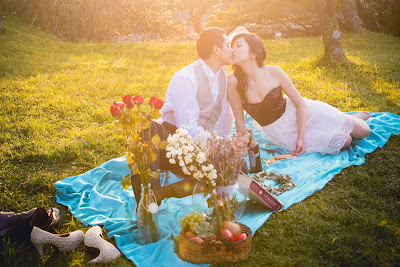 台北婚紗景點 陽明山 野餐風
