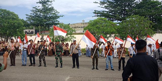 Deklarasi Bendera Merah Putih, Syahlan Pimpin Forkompinda dan Pemuda