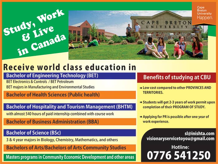 Study, Work and Live in Canada.