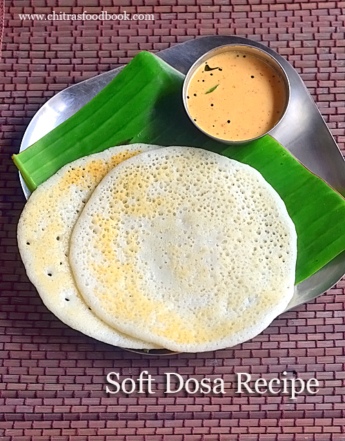 Soft dosa recipe for lunch box and travel - Soft dosa batter recipe