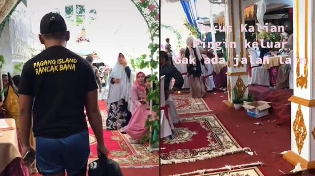 Viral, Video Akses Jalan Ditutup Tenda Pernikahan Ini Bikin Netizen Geregetan