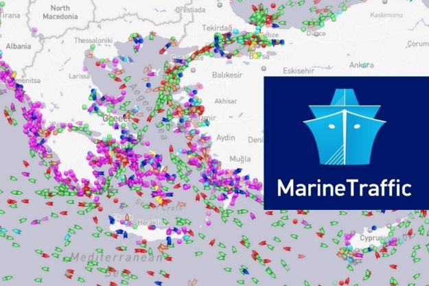 marine traffic εφαρμογή πλοίο θέση ώρα άφιξης