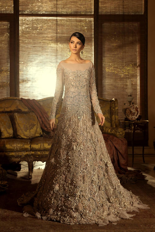 Nilofer Shahid Bridal Gown for Wedding Reception