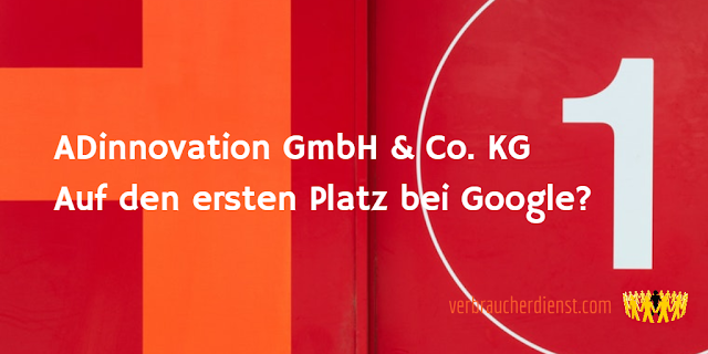 Titel: Mit der Firma ADinnovation GmbH & Co. KG auf den ersten Platz bei Google?