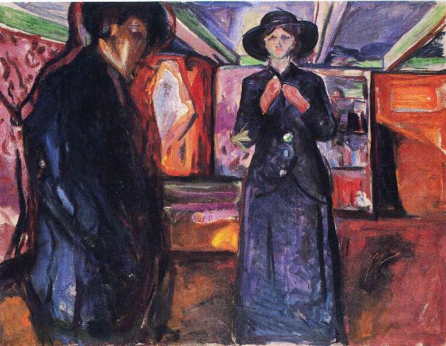 Эдвард Мунк - Мужчина и женщина. 1915