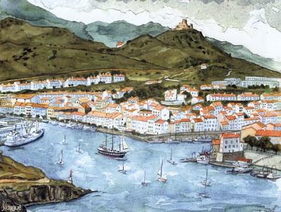 aquarelle port vendres
