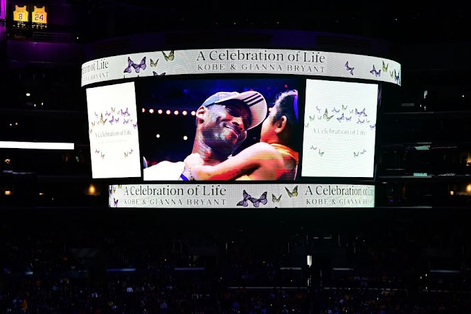 Thousands of Kobe and Gianna Bryant mourners attend their memorial service at Staples Center (Photos)