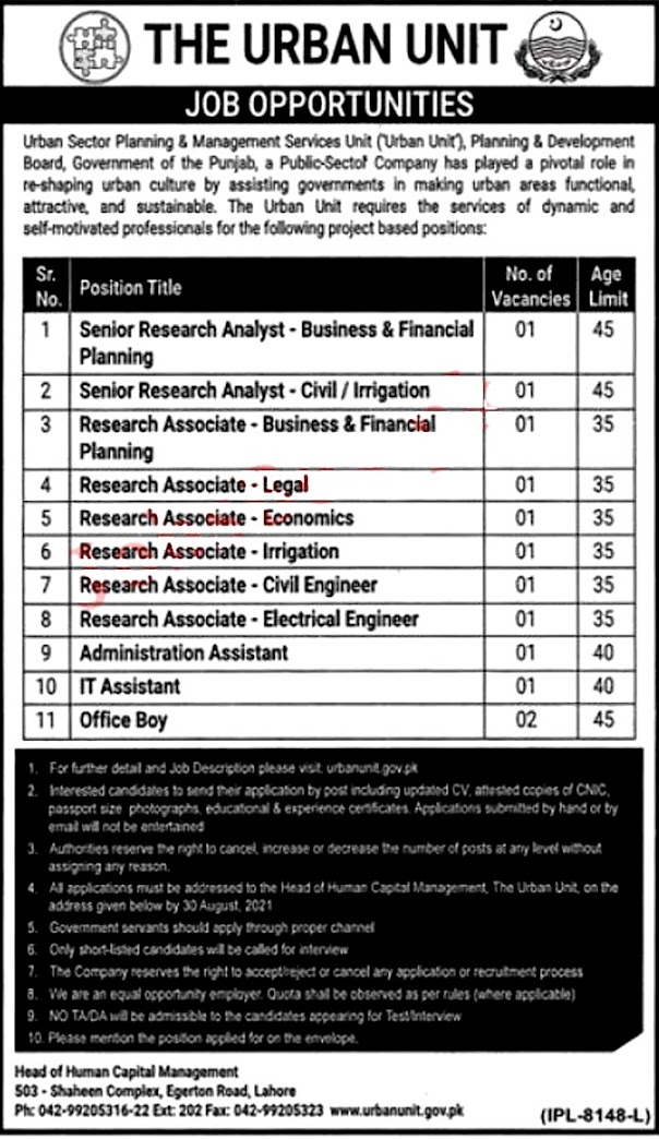 The Urban Unit Latest Jobs 2021 - Application Form Download