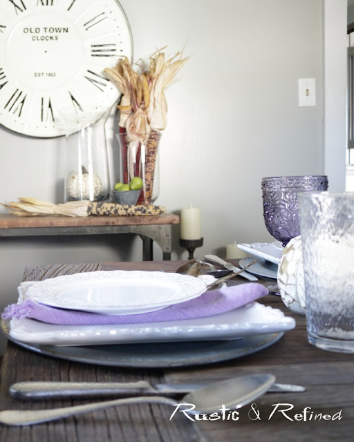 Fall Tablescape using timeless decorations