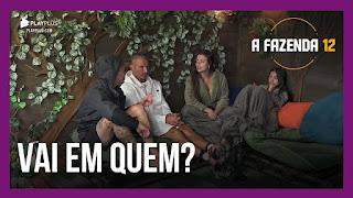A Fazenda 12 - Biel, Juliano, Lucas, Mirella e Victória combinam votos - Raissa conversa com Stéfani sobre poderes