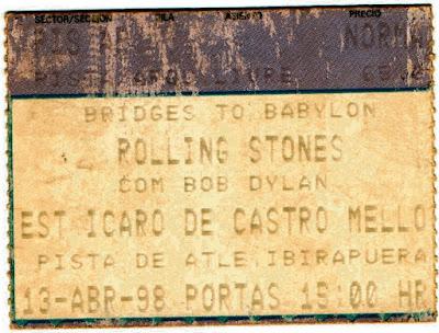 Quando todos os bilhetes são premiados: show dos Rolling Stones com Bob Dylan.