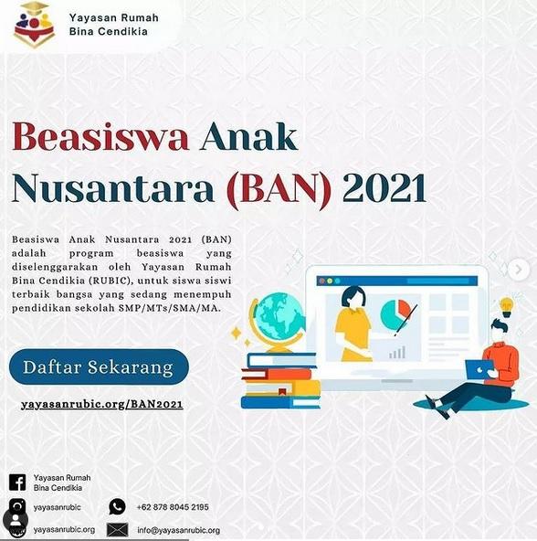 BEASISWA ANAK NUSANTARA (BAN) 2021