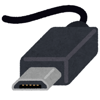 USB端子のイラスト(Micro-B)