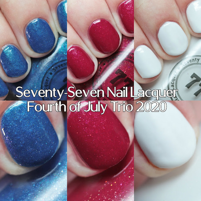 Seventy-Seven Nail Lacquer Fourth of July Trio 2020