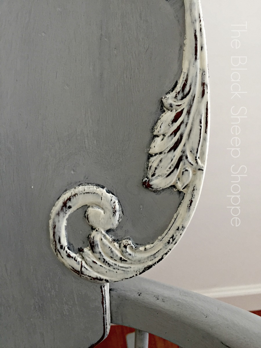 Distressing added to painted trim