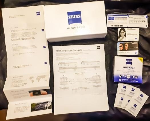 b8a97965ad4b9 Lentes Progressivas Zeiss na linha premium são acompanhadas com este kit de  apresentação