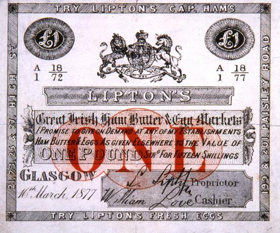 Lipton's voucher 1877