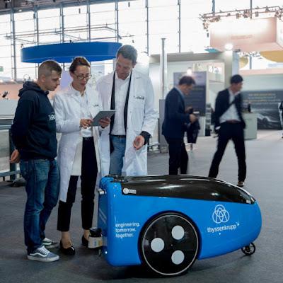 Robot pengiriman TeleRetail Thyssenkrupp