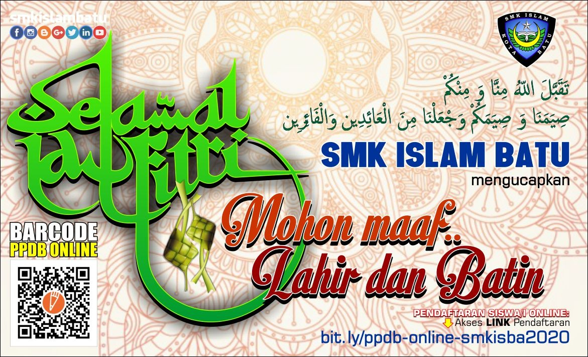 Selamat Idul Fitri 2020 (1441H)   SMK ISLAM BATU ...