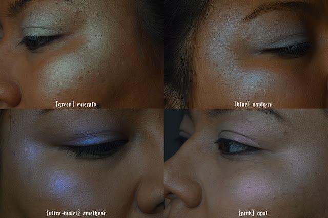 highlighter, illuminante, viso, alchemist, kat von d, green, blue, pink, ultra-violet highlight, recensione, review