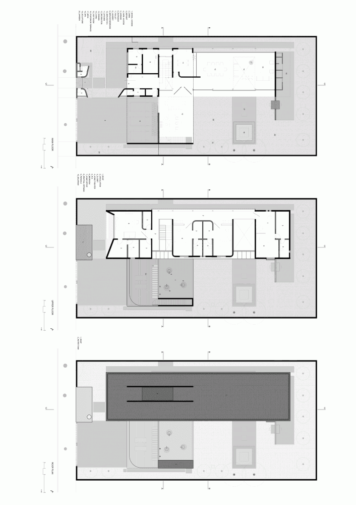 Floor plans of Modern Planalto House by Flavio Castro