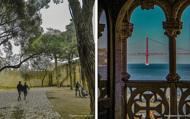 Castelo de São Jorge e Torre de Belém, Lisboa, Portugal