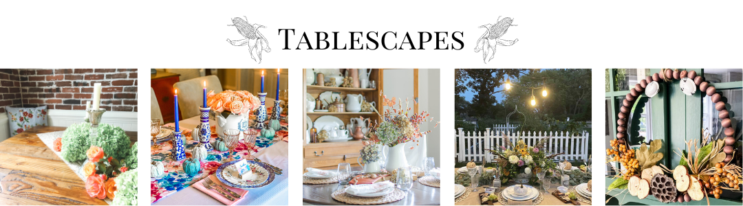 fall tablescapes collage